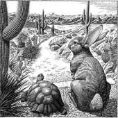ウサギとカメ「先に土地を買わないで!」