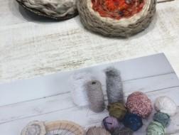 着物生地で作る丸織りブローチづくり